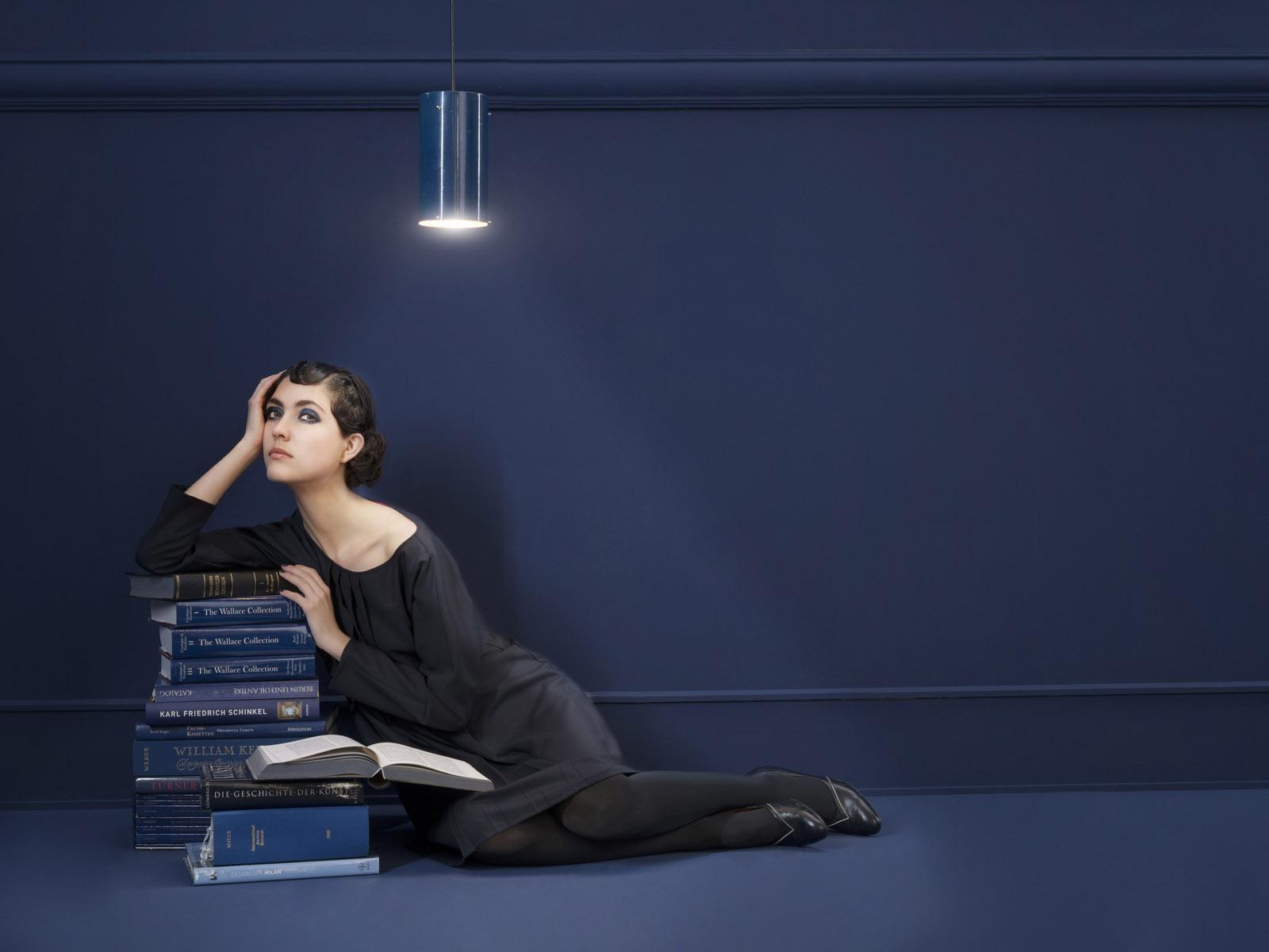 Kleid Krille von meinweiß, 100% Schurwolle, dunkelblau