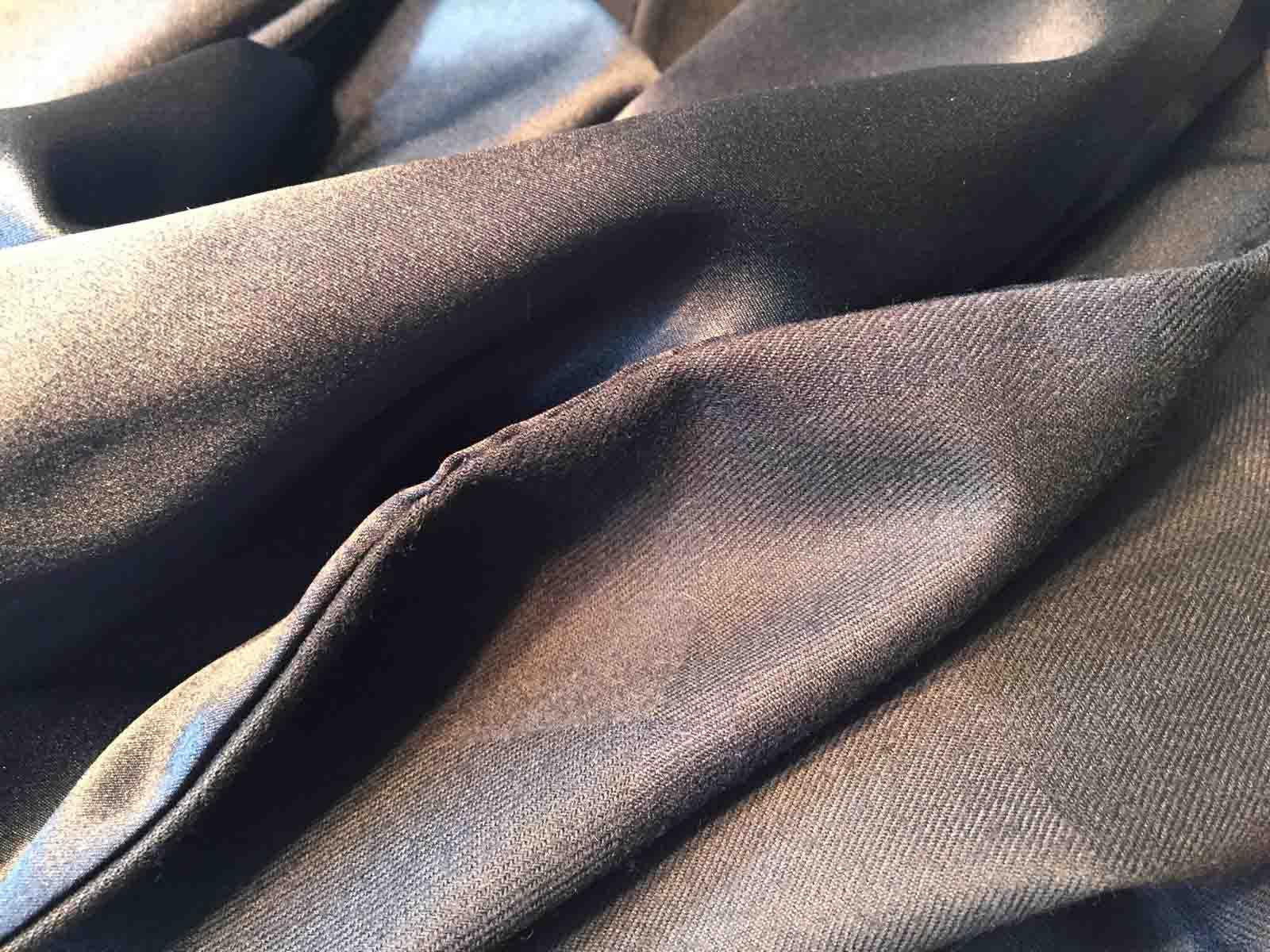 Doubleface Schal aus Wolle und Seide