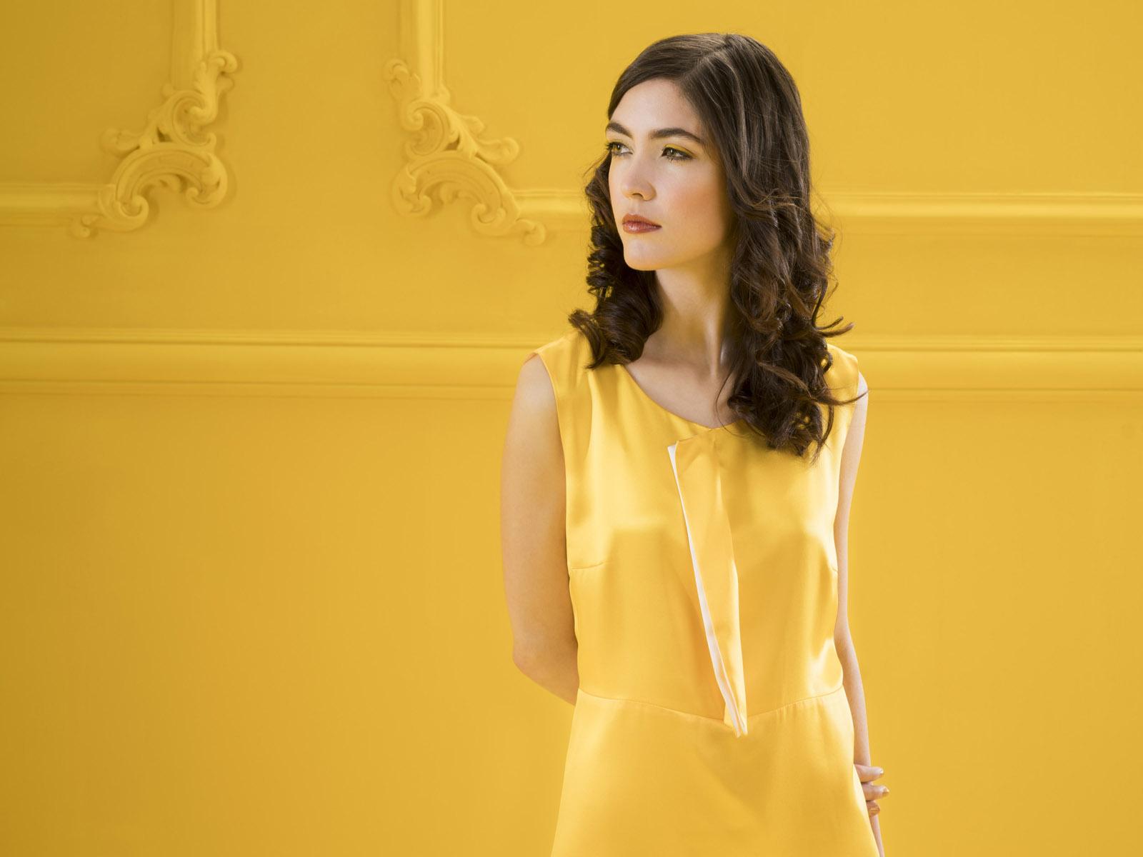 Seidenkleid Konda von meinweiß, gelb, 100% Seide